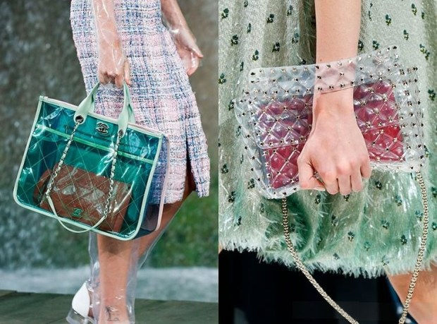 Transparent handbags 2019 spring summer
