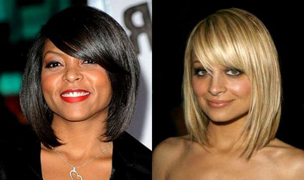 Haircuts with long bangs celebrities