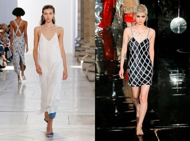 Dresses with thin straps spring-summer 2019