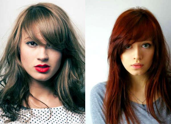 Haircuts with long bangs long hair