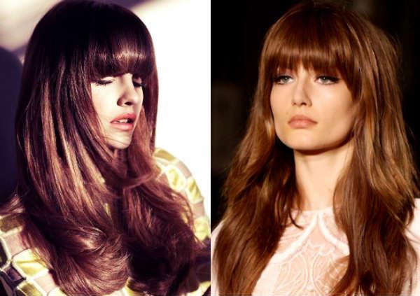 long hair straight fringe