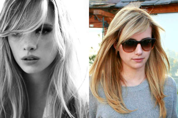 Womens haircuts with long bangs