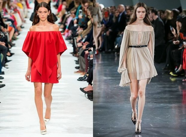 Short dresses 2019 with bare shoulders