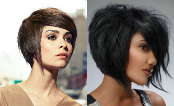 Haircuts for short hair with long side bangs