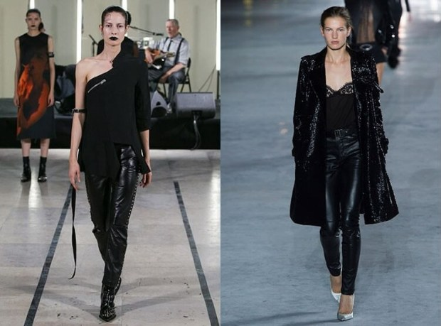 Leather pants spring summer 2019
