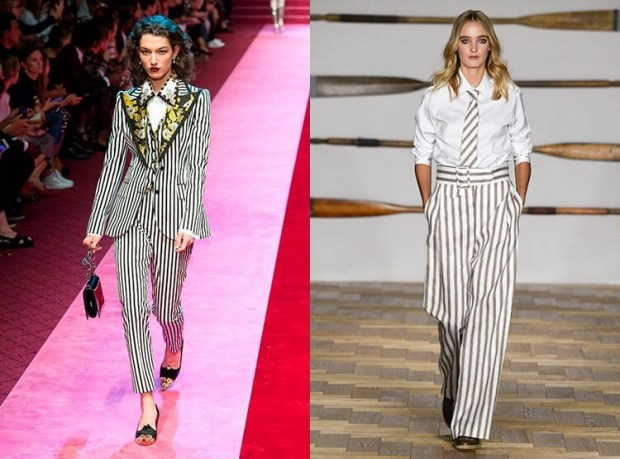 Vertical striped pants 2019