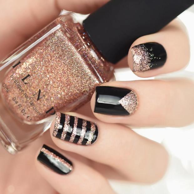 Gel nail polish manicure