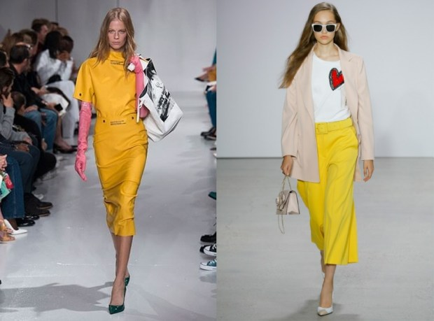 Yellow color spring-summer 2021