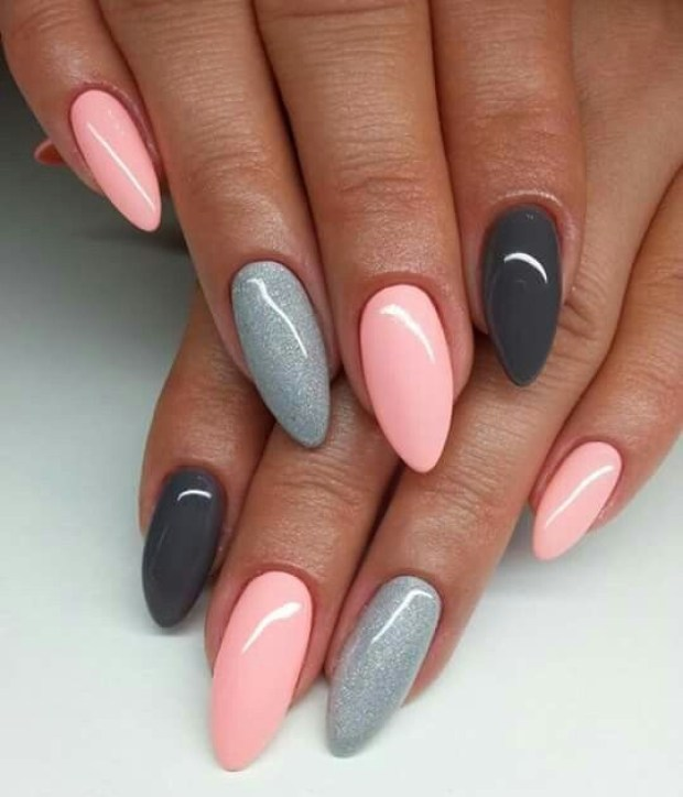 Nail gel designs in different colors
