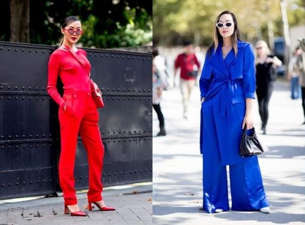 Street style fashion spring-summer 2019: mono-look