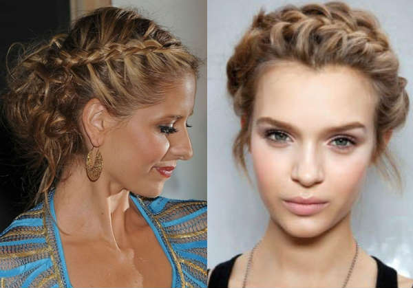 Simple hairstyles for curly hair with braids