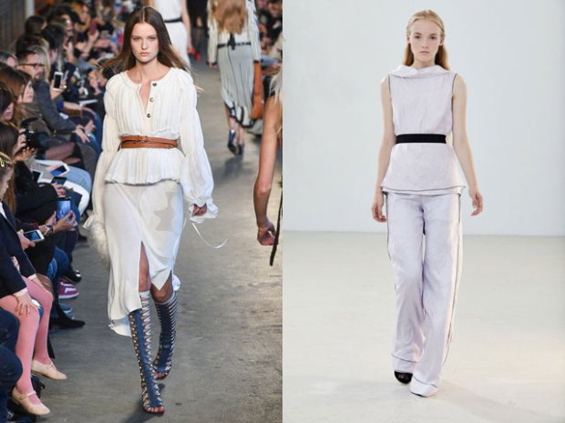 Fashion blouses with belt 2021