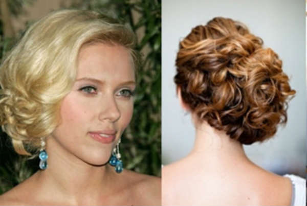 Side curly hair hairstyles