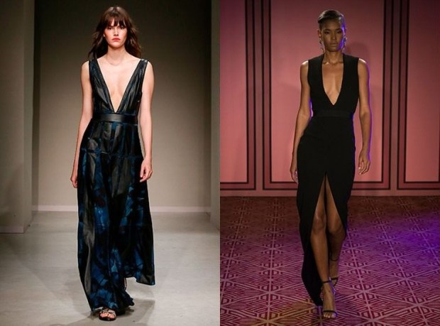 Black evening dresses with neckline