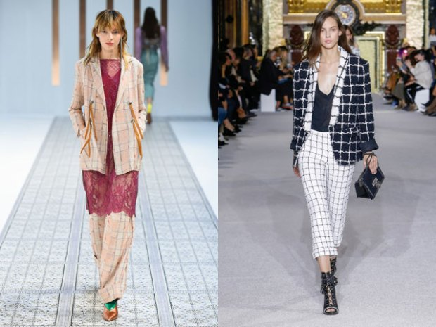 Women plaid blazer 2019