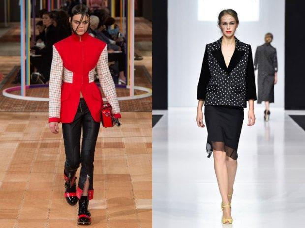 Women blazers 2019 spring summer: contrast inserts