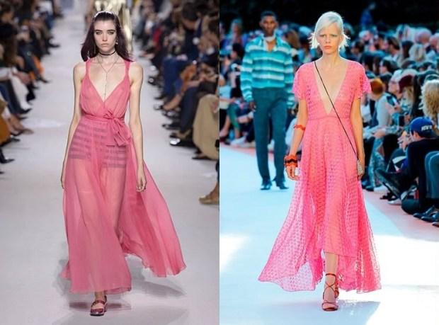 Pink evening dresses 2019