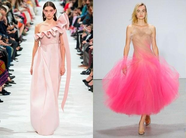 pink dress design