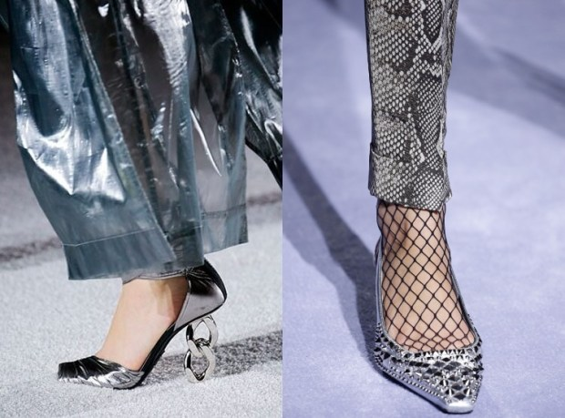 Festive silver shoes