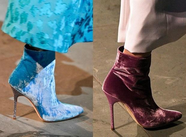Fashion velvet footwear