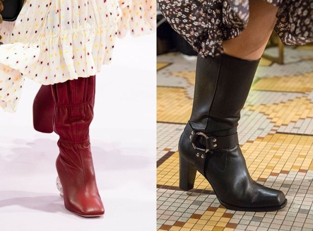 Short boots with high heel