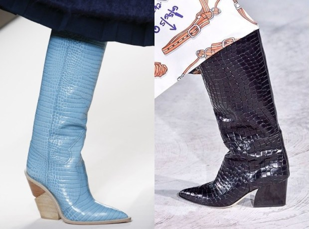 Snake skin printed boots fall winter 2019 2020