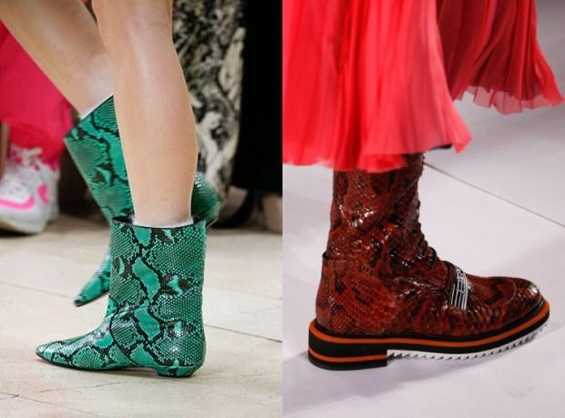 Women boots 2020 reptile print