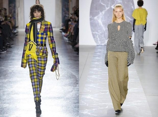 Ladies pants fall winter 2019 2020 plaid