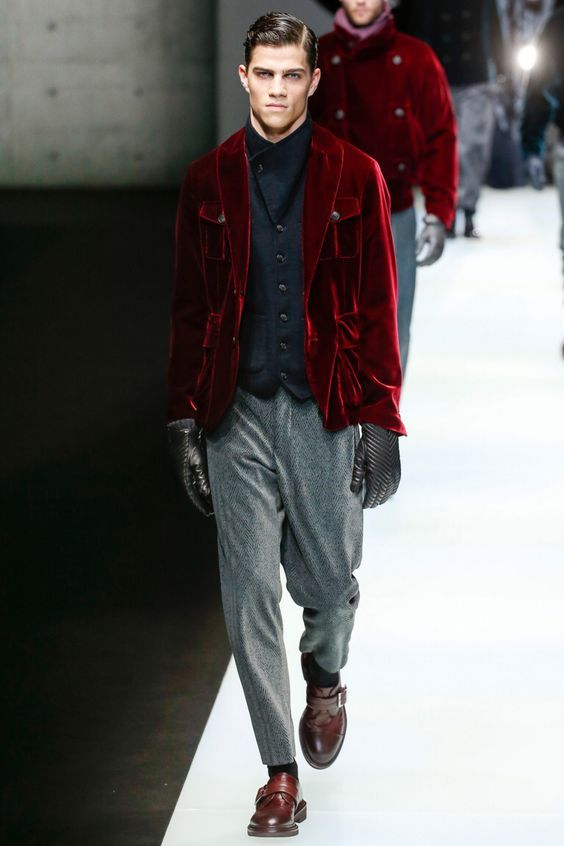 Mens fashion 2019 2020 fall winter velour