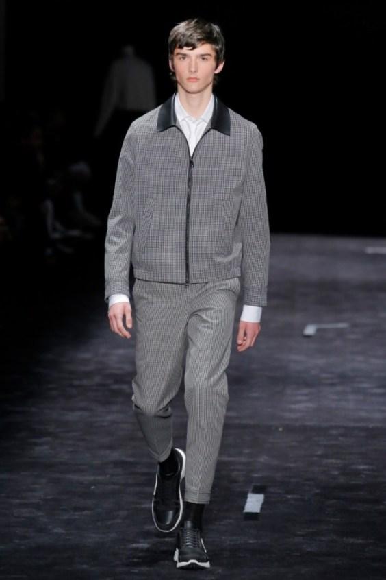 Casual gray men's suit