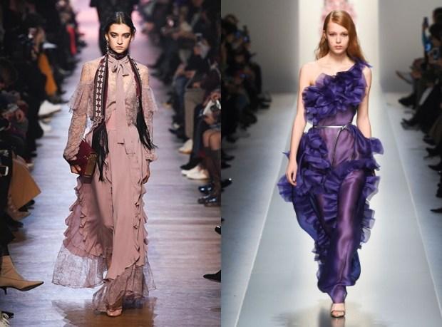 Frilled evening dresses fall winter 2019 2020