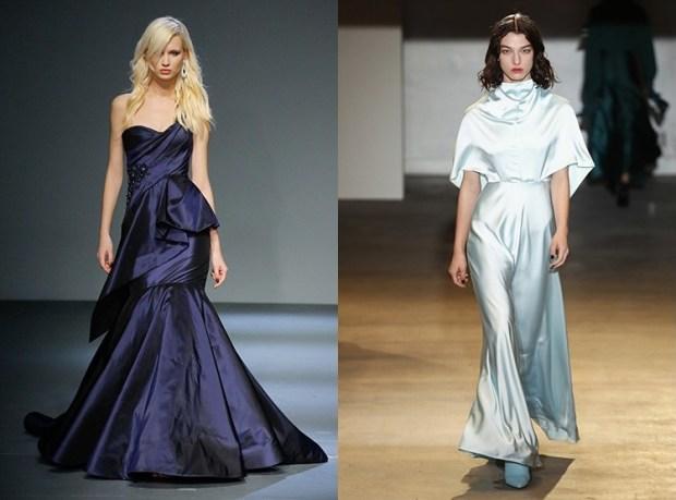 Silk evening dress fall 2019 winter 2020