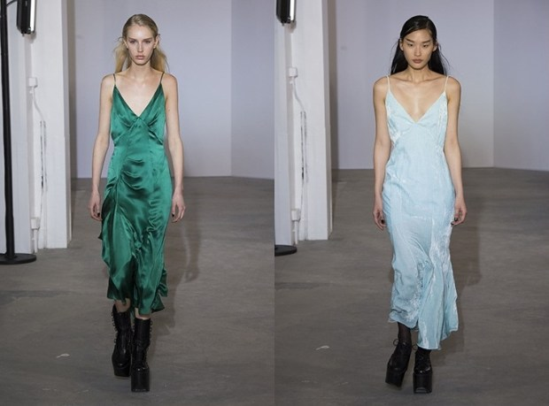 Evening slip dress fall 2019 winter 2020