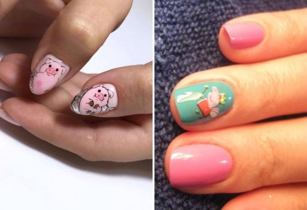 Nail design for New Year 2020