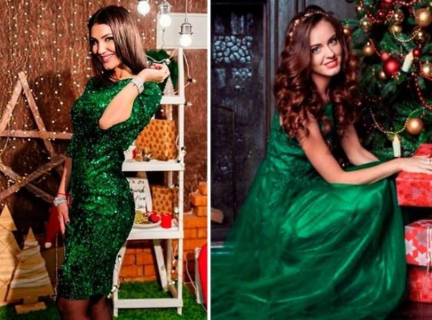 Green dress for holiday season 2020