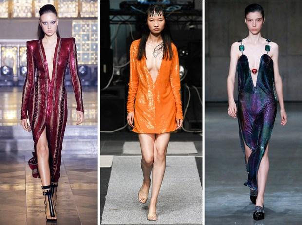 Dresses with deep neckline
