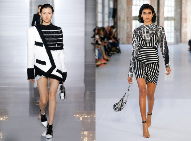 Monochromatic graphics at Paris Fashion Week 2020