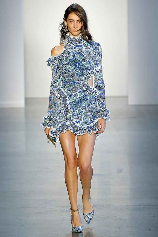 Mini dress with frills 2020 ladies