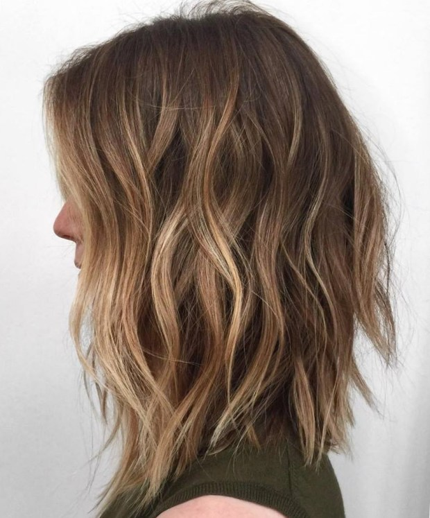 Balayage for brunette medium length hair