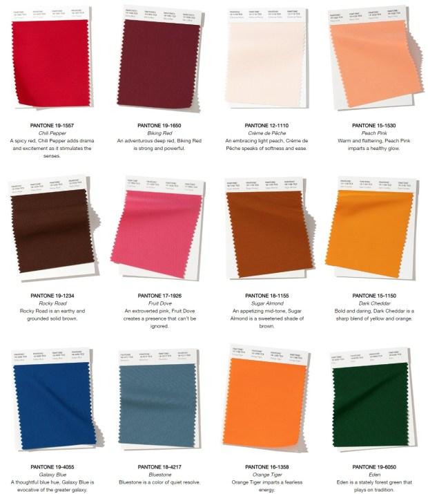 Pantone color trends fall 2020 winter 2021