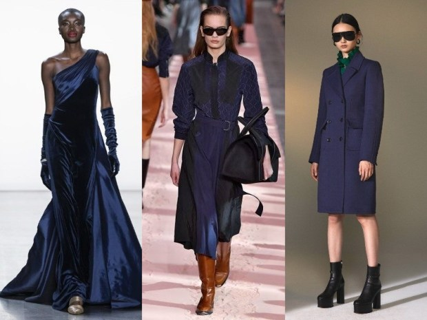 Dark blue outfits winter 2021