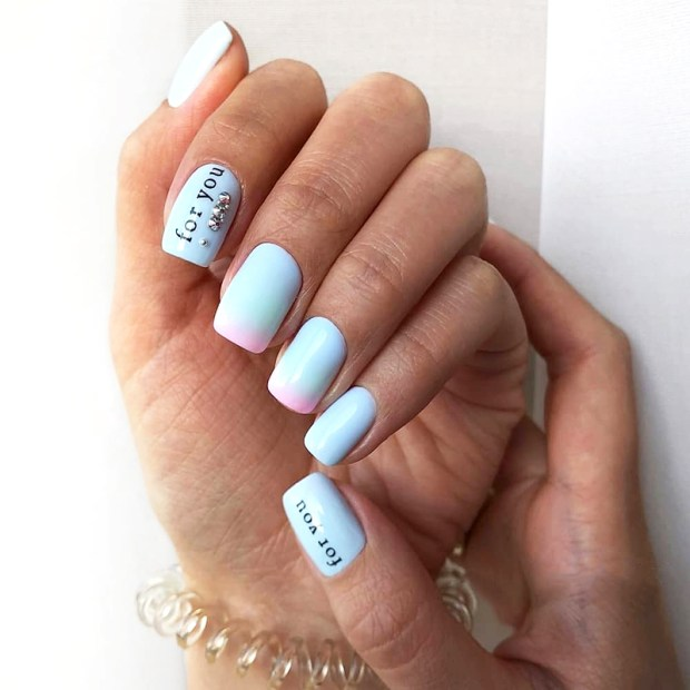 Wording nail designs 2020