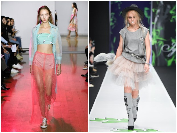Spring summer 2020 transparent skirts
