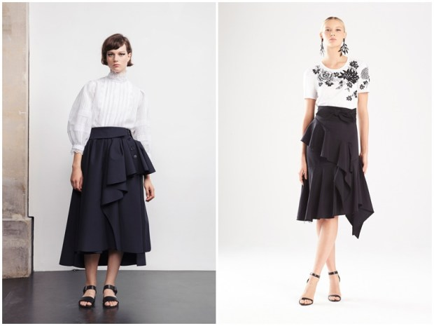 Black skirt with frills 2020