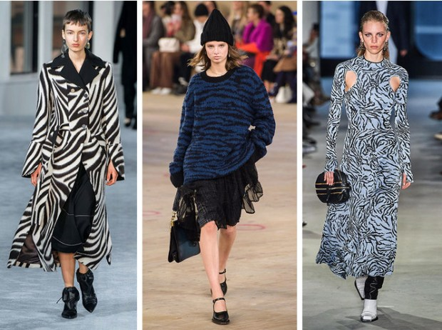Zebra print at New York fashion week 2020 2021