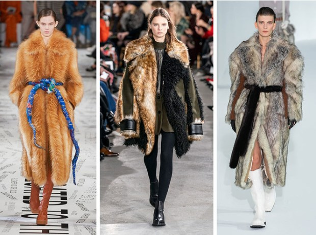 Paris Fashion Week 2020 2021 fall winter faux fur
