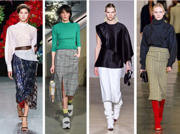 Fashion midi skirts london fall winter 2020 2021