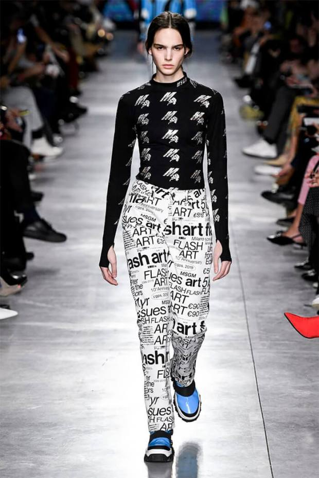 Womens jeans fall 2020 winter 2021 pop art style
