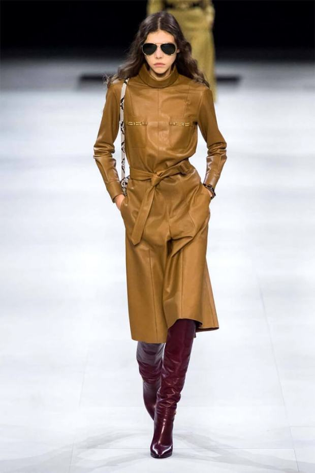 Fall leather dress 2020