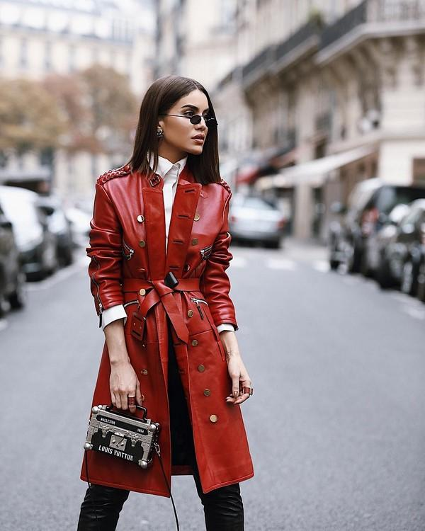 Leather trench coats for women fall 2020